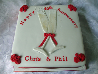 Wedding Anniversary Cake Kent